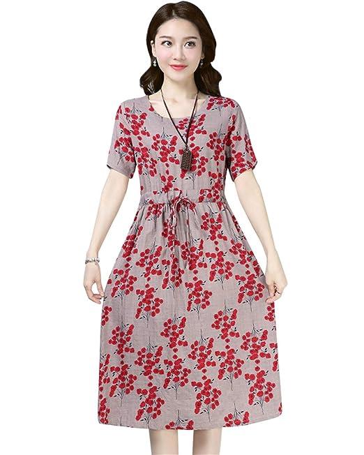 Mujer Vintage Vestido Años 50 Falda Impresión Floral Sin ...