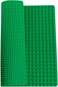 "Classic Green Double Sided Roll Up Building Mat - 15"" x 15"" - 100% Compatible With All Major Brands"