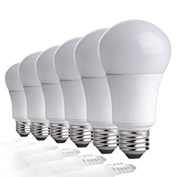 Tcp 9w led light bulbs 60w equivalent a19 e26 medium screw