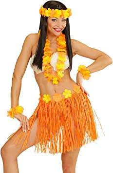 NET TOYS Set de Disfraz Hawaiano Aloha de Mujer Hawai Falda ...