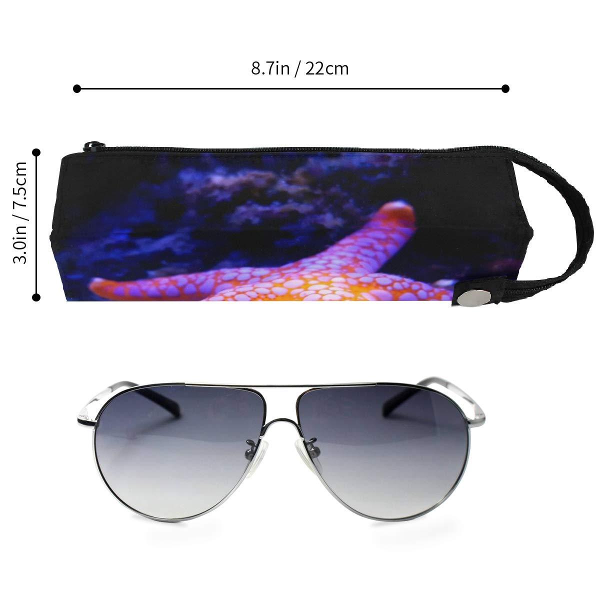Starfish Ocean Glasses Case Women Men Eyeglasses Bag Pencil Case Pouch