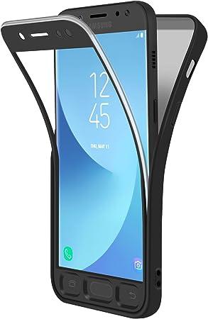 ivencase Funda Samsung Galaxy J7 2017 Negro, Carcasa TPU Flexible ...