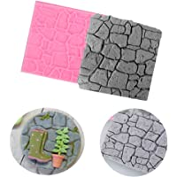 1PC Castle Farm Wall Rock Stone Garden 3 D Silicone Mold Chocolate Fondant Cake Bread Decorating DIY Baking Cookies Mould
