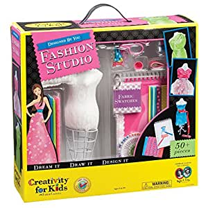Creativity for Kids Designed by You Fashion Studio, Fashion Design Kit For Kids