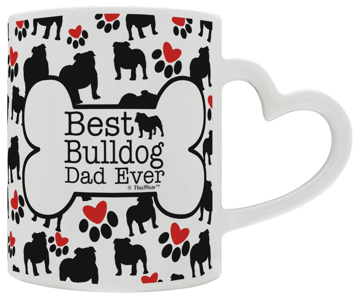 Amazon com: Miniature Bulldog LoveBest Bulldog Dad Ever Dog