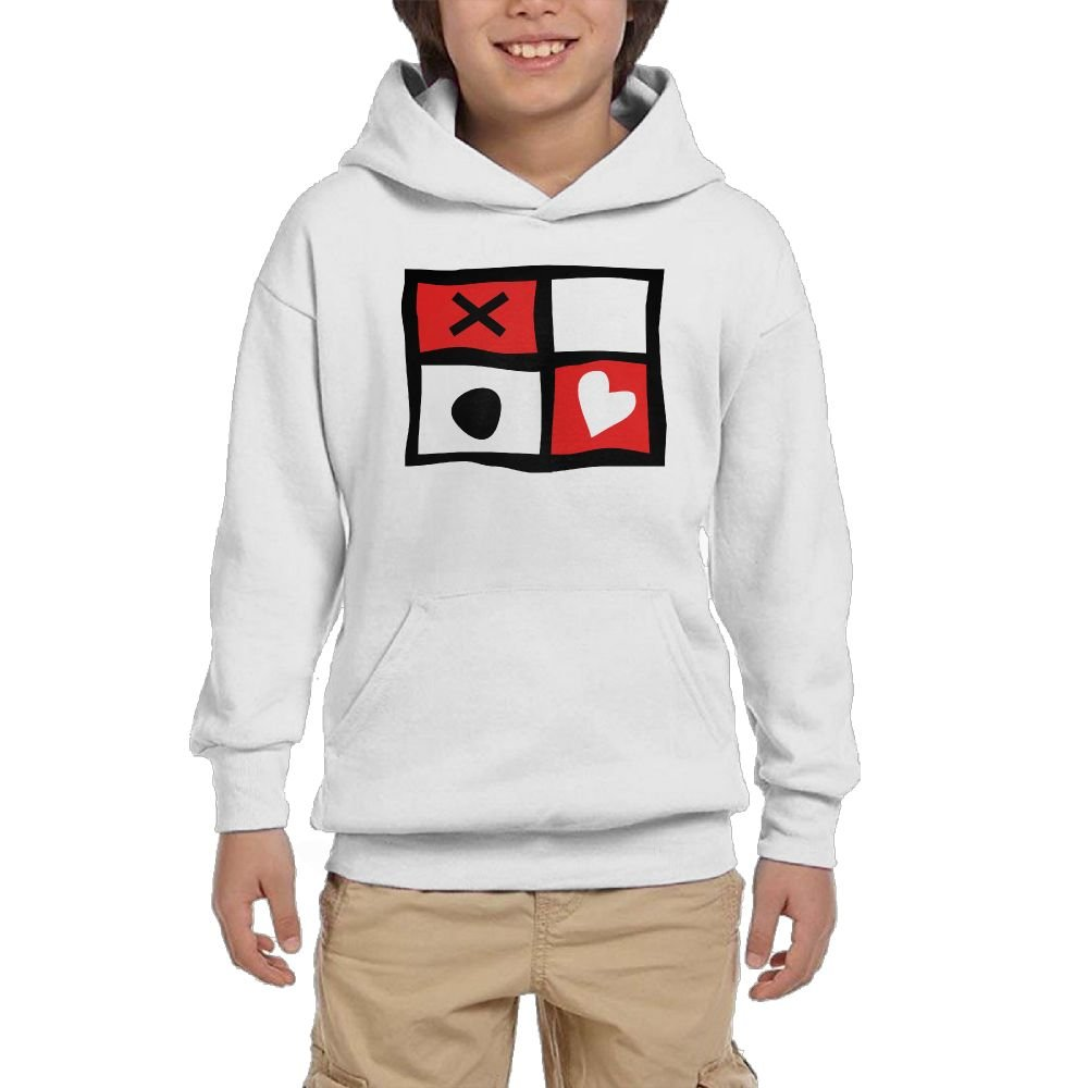 Artphoto Youth's Cool Flag Hearts Hoodies Sweatshirt Suitable for 10 to 15 Years Old
