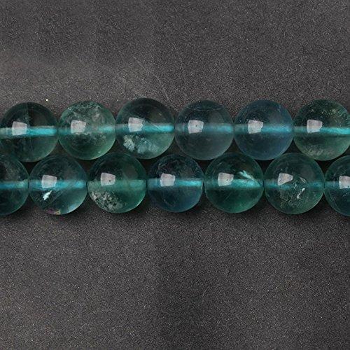 Fluorite Green Bracelet - JARTC Natural Green Fluorite Crystal Round Loose Beads for Jewelry Making DIY Bracelet Necklace (8mm)