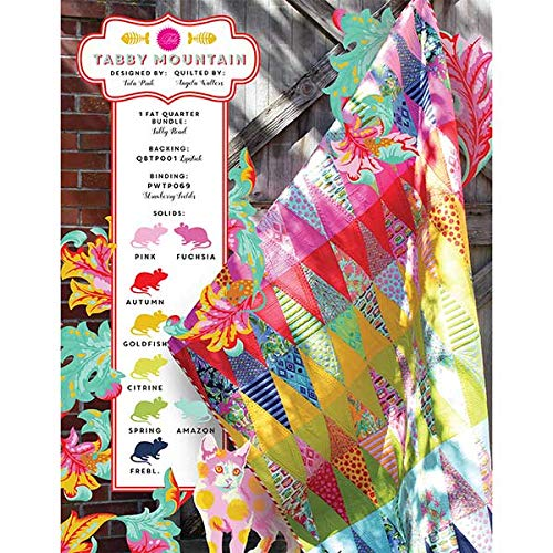Tula Pink Tabby Mountain Market Quilt Kit Featuring Tula Pink All Stars Fabric by Tula Pink Patterns (Image #2)