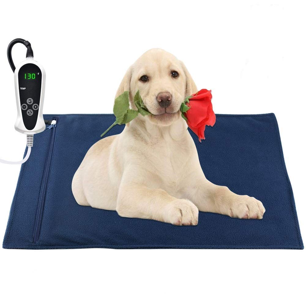 RIOGOO Pet Heating Pad, Electric Heating Pad for Dogs and Cats Indoor Warming Mat with Auto Power Off