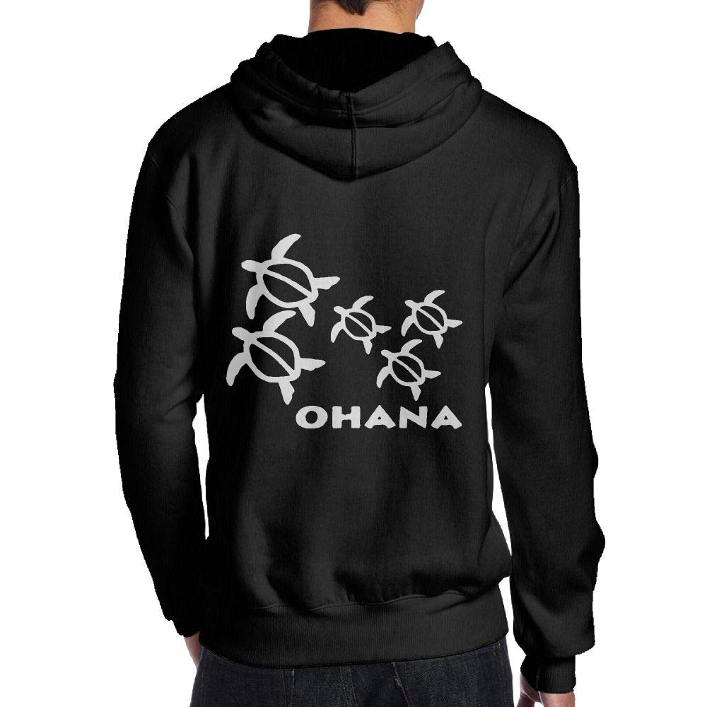 JHDKDGH-N Ohana Honu Hawaiian Sea Turtle Back Print Long-Sleeved Sweater for Men