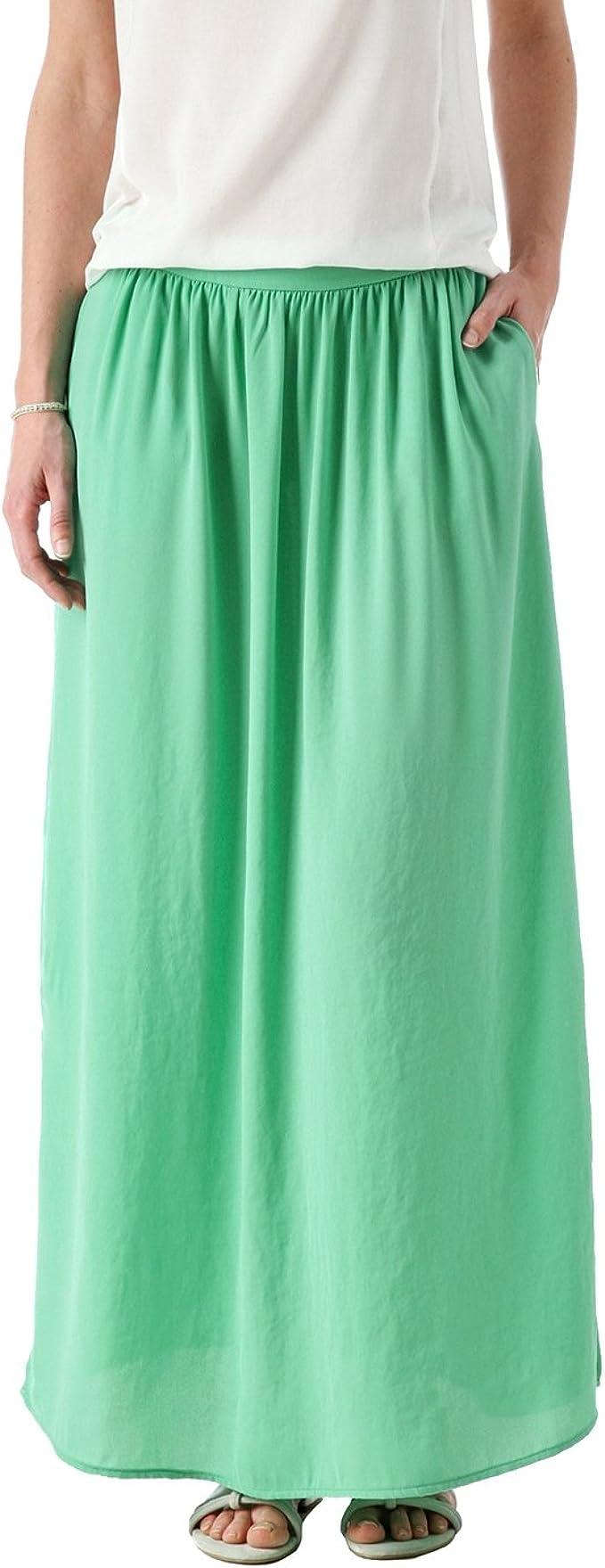 Promod Longue jupe unie Femme Vert d'Eau 36: