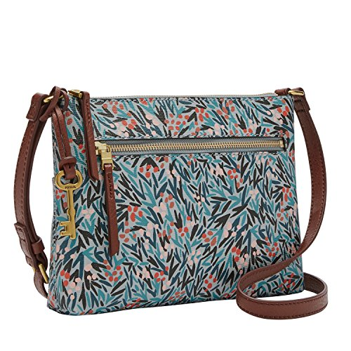 Blue Floral Bag - Fossil Fiona EW Crossbody Blue Floral,