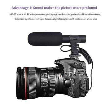 LanLan Micrófono Externo para Videocámara MAMEN MIC-05 Micrófono ...