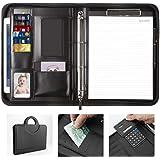 Carpeta Conferencias Portadocumentos portafolios A4 Tableta Piel PU Padfolio