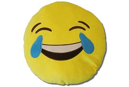 Katara 1788 Cojín Redondo Emoji Almohadilla Emoticono Whatsapp, Almohada Smiley De Peluche, Para Sofá - LOL