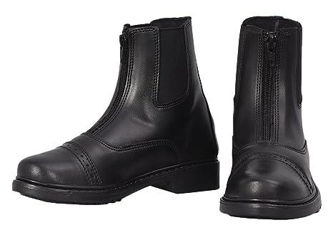 TuffRider Children's Starter Front Zip Paddock Boots, Black, ...