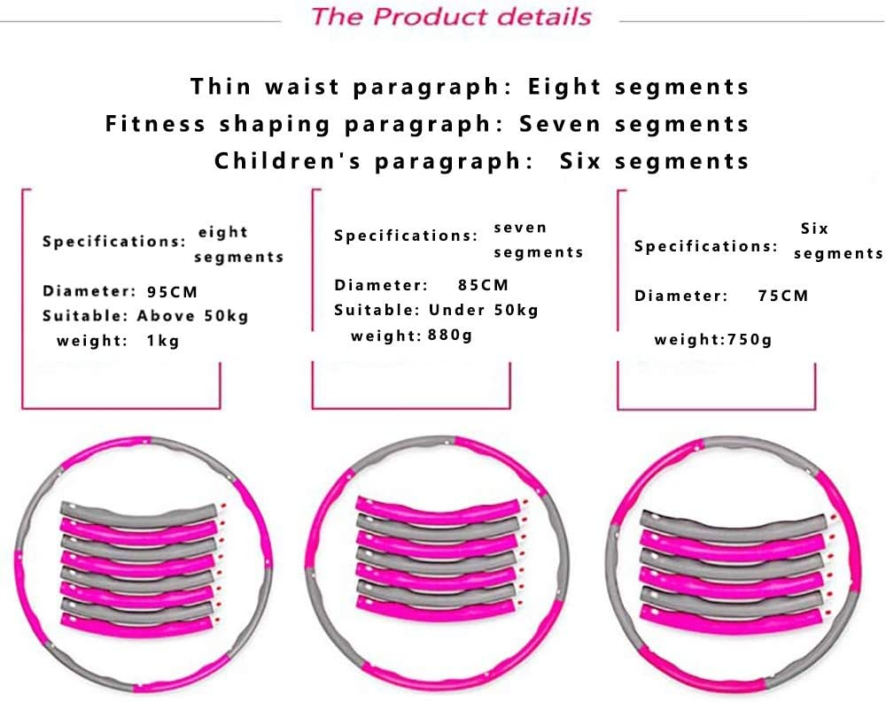 QYSHH Hula Hoop Reifen Wellenstruktur Fitness Hula Hoop zur Fitness Gewichtet Schaumstoff Fitness Bewegung Hula Hoop Reifen Gewichtsreduktion