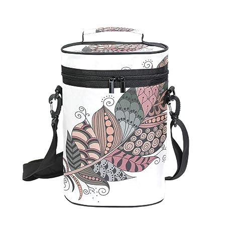 DEZIRO Bolsa enfriadora de vino para picnic, con diseño de ...