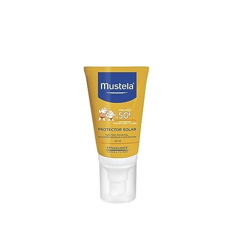 c7ac1bea2d9 Mustela Crema Protector Solar Facial, Alta Protección para Todo Tipo de  Piel, 40 ml: Amazon.com.mx: Salud, Belleza y Cuidado Personal