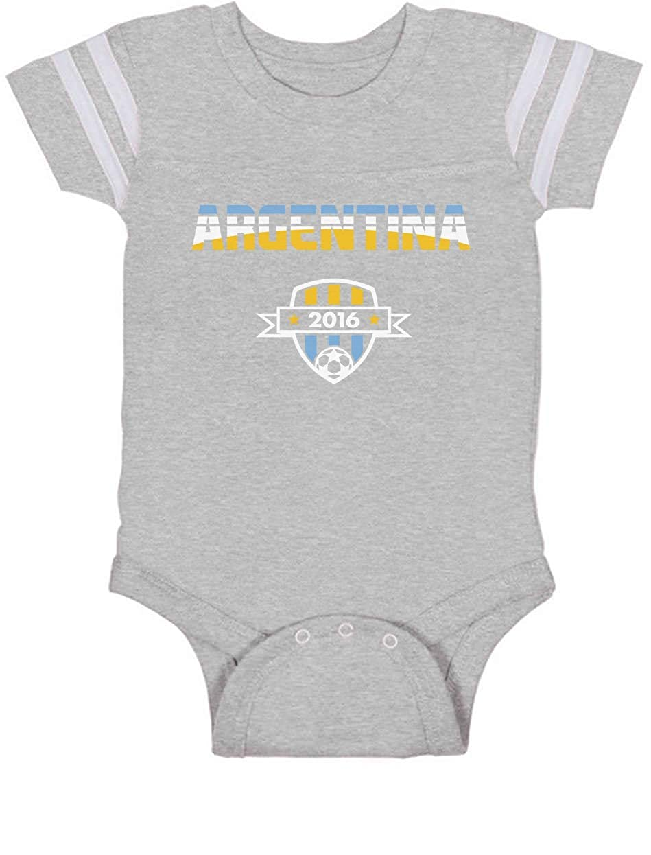 fbb11c378 Amazon.com  TeeStars - Argentina National Soccer Team 2016 Fans Newborn  Baby Jersey Bodysuit  Clothing