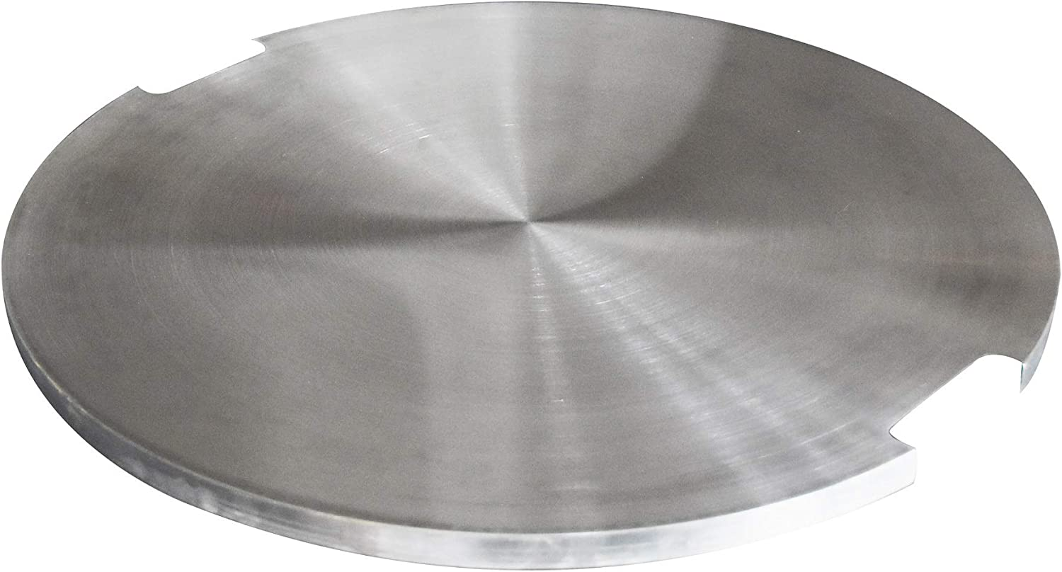 Amazon Com Elementi Stainless Steel Outdoor Lunar Bowl Pit Table Round 29 X 29 X 1 Inches Grill Fire Ring Lid Firepit Accessory Cover Garden Outdoor