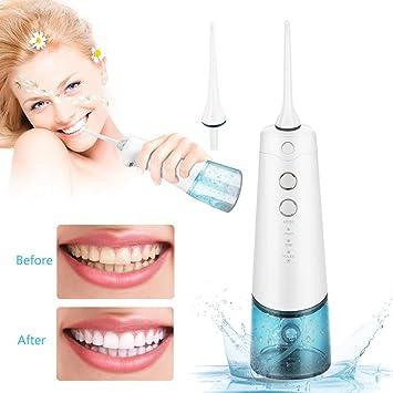 Oral Irrigator Dental Water Flosser mit 220ml Wassertank 3 Druckmodi ...
