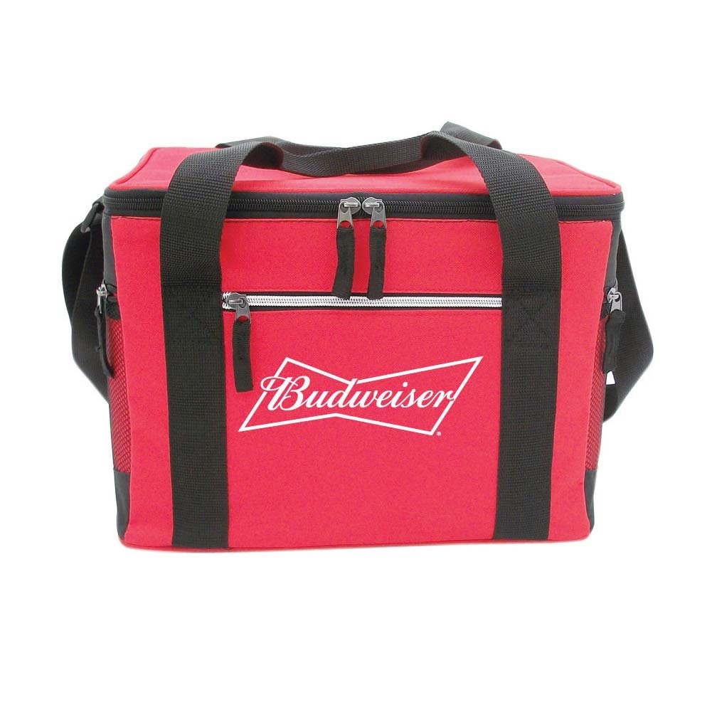 Budweiser 24 Can Cooler Bag with Side Mesh Pockets