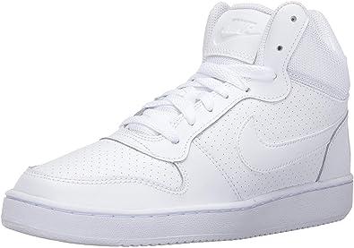 Nike Mujeres Bajos & Medios Cordon Zapatos para Baloncesto, White ...