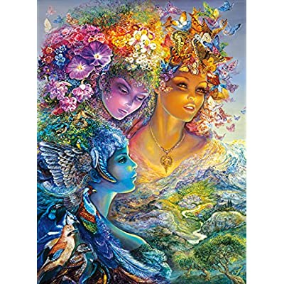 Buffalo Games The Three Graces Glitter Edition By Josephine Wall Jigsaw Puzzle 1000 Piece By Buffalo Games