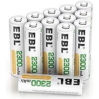 EBL Juego de 12 Pilas Recargables AA NI-MH 2300mAh Baja Autodescarga con ProCyco Baterías Recargables para Juguete…