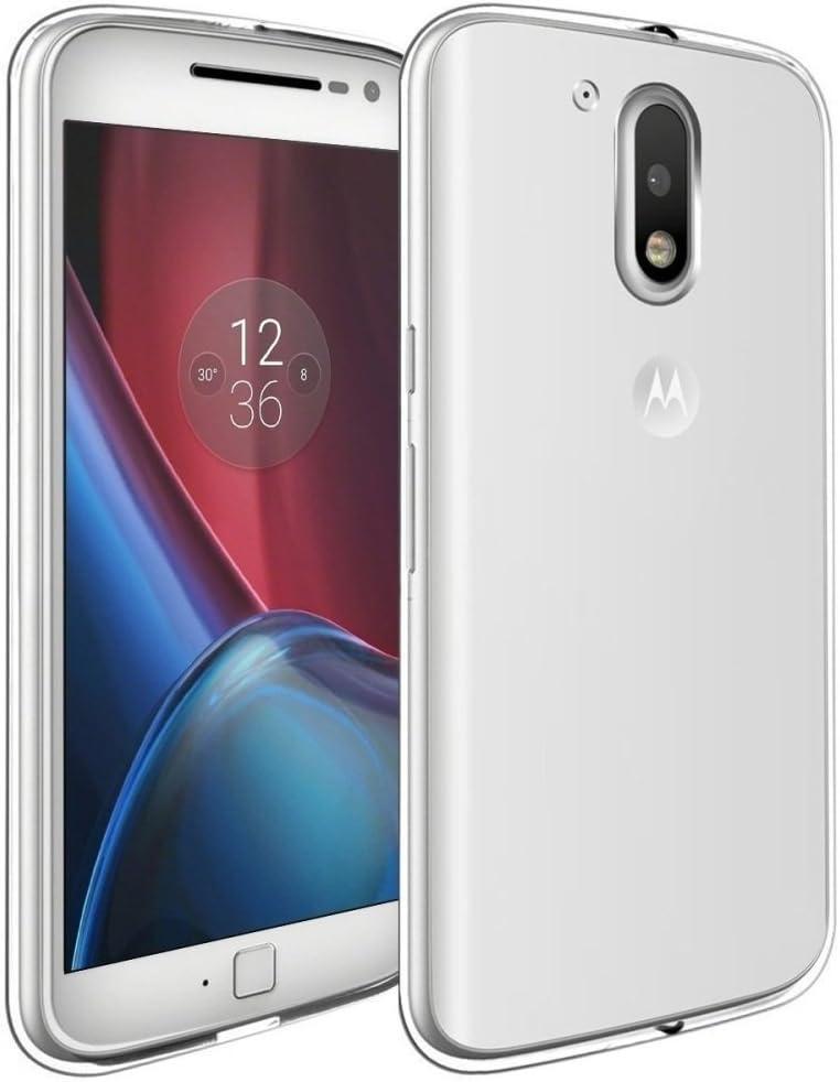 REY Funda Carcasa Gel Transparente para Motorola Moto G4, Ultra Fina 0,33mm, Silicona TPU de Alta Resistencia y Flexibilidad: Amazon.es: Electrónica