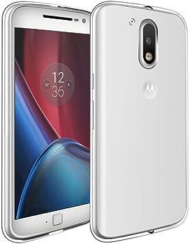 REY Funda Carcasa Gel Transparente para Motorola Moto G4, Ultra ...
