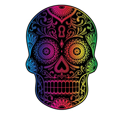 Mexican Sugar Skull Rainbow Spectrum Decal For Your