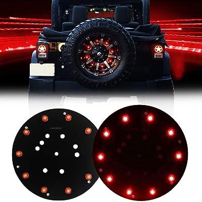 FIREBUG Jeep 3rd Brake Light LED, Jeep Spare Tire Brake Light, Jeep LED Brake Light, Jeep Accessories Lights for Spare Tire, Jeep Wrangler Spare Tire Brake Light JK JKU 2007-2020, Red, New: Automotive