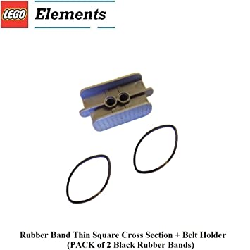 Amazon.com: Lego Parts: Rubber Band Thin Square Cross Section + Belt ...