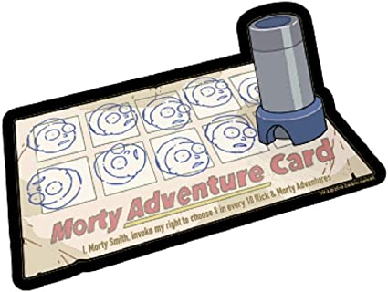 Rick and Morty TV Series Morty Adventure Card Peel Off Image Sticker Decal NEW