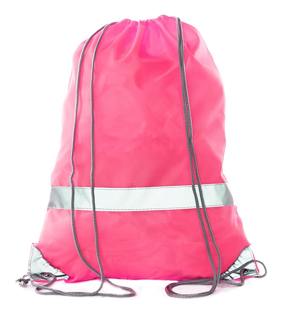 fbad72e6a220 Amazon.com  Reflective Drawstring Bags - High Visibility for Hiking ...