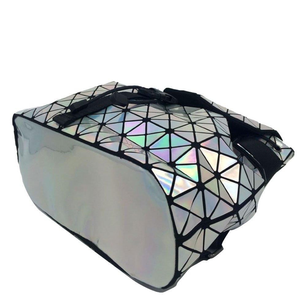 DIOMO Geometric Lingge Laser Women Backpack Travel Shoulder Bag(Laser) by DIOMO (Image #3)