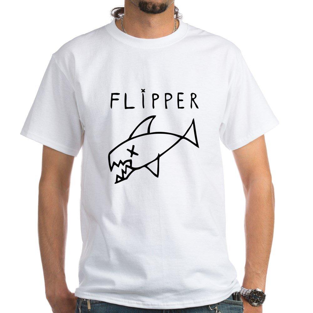 524286f8cfa Amazon.com  CafePress - Nirvana Flipper T-Shirt - White T-Shirt  Clothing