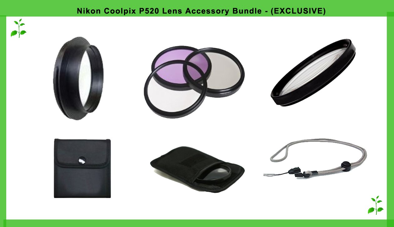 Lens Accessories for The Nikon Coolpix P520 by Digital Nc