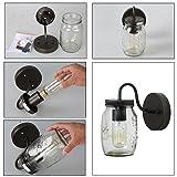 LNC 1-Light Wall Sconce Glass Jar Wall Sconces