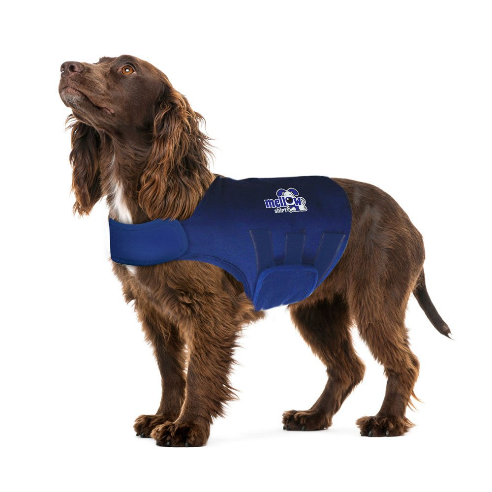 Navy Large (41-64 lbs) Navy Large (41-64 lbs) Mellow Shirt Dog Anxiety Calming Wrap, Large