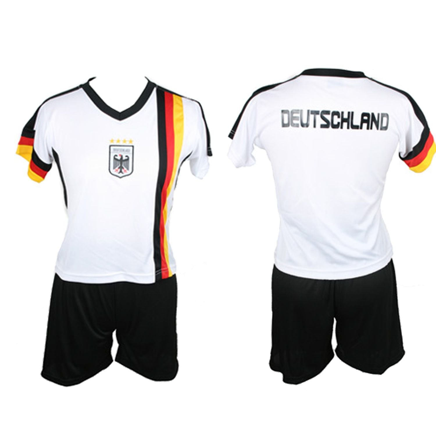 bee4d0b8f Antonio Germany Children s Jersey Set WM 2018 (96 104) White XS Size from  1996 to 5 Years  Amazon.co.uk  Sports   Outdoors