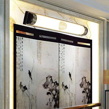 YU-K Luces delanteras espejo de pared moderno baño baño Apliques Lámparas LED bathroomThe50cm Negro