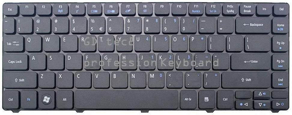 Laptop Keyboard Black Compatible for Acer TravelMate 4740 4740G 4740Z 4740ZG 8372 8372G 8372T 8372TG 8372TZ 8372Z 8472 8472G 8472T 8472TG 8472z P//N:PK1307R1A01 9J.N1P82.A1D NSK-AMA1D US Layout