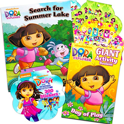 Dora the Explorer Activity Pack ~ Coloring Book, Board Book, and Stickers! ()