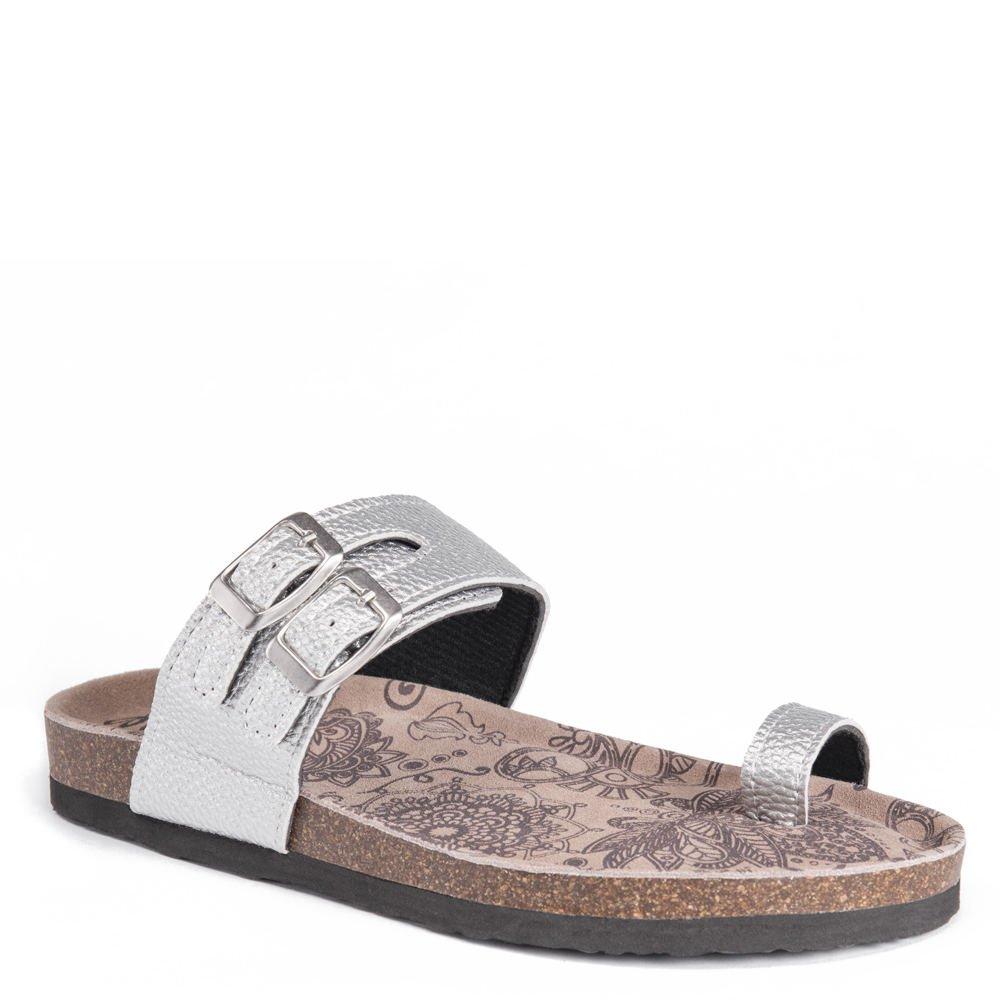 MUK LUKS Daisy Women's Sandal B079P6LJK4 6 M US|Silver