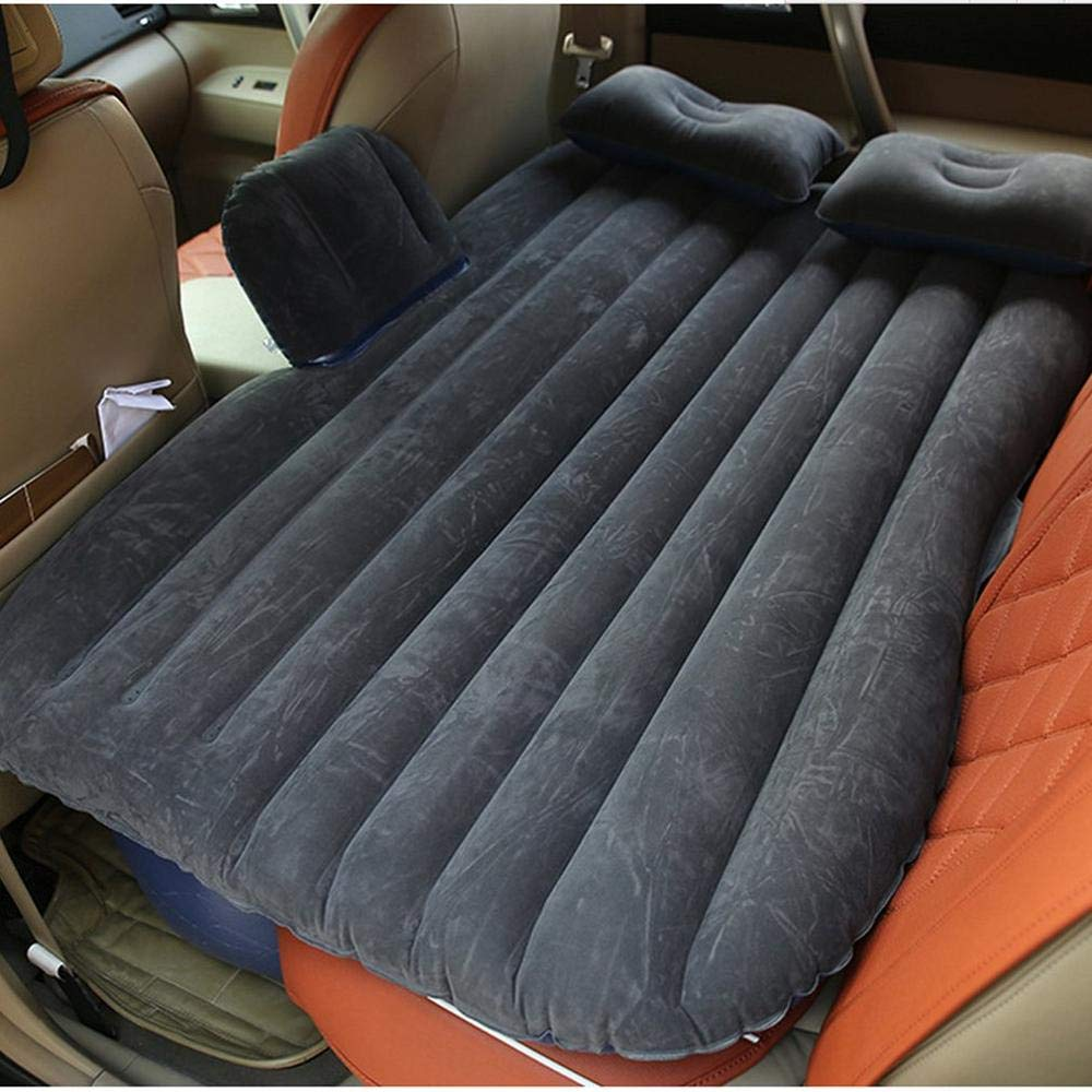 Lpf3kkk Car air bed Large Size Durable Car Back Seat Cover Car Air Moisture-proof Inflatable Mattress Air Bed for Car Interior,Beige
