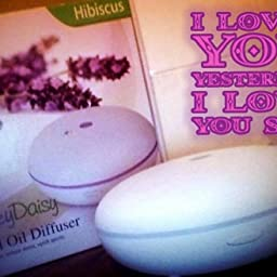 Smiley Daisy Essential Oil Diffuser, Quite Cool Mist Humidifier, 350 ml white