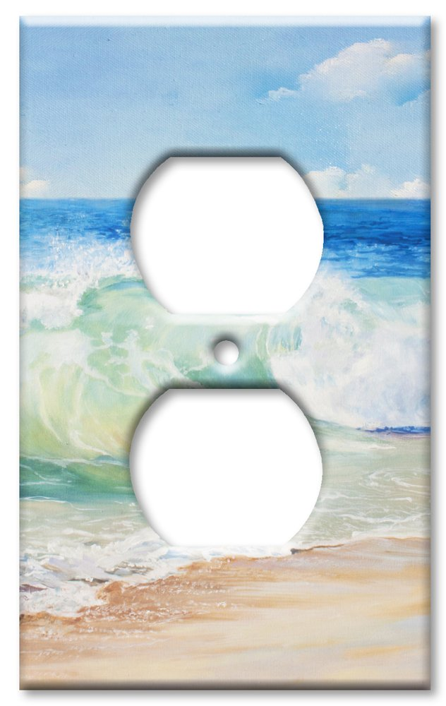 Art Plates Brand Electrical Outlet Wall / Switch Plate - Beach Painting